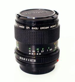 Canon Fd 50mm F3.5 Macro Lens for Manual Focus Canon A- And