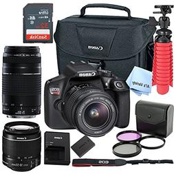 Canon T6 Digital SLR Camera Kit with EF-S 18-55mm and EF 75-