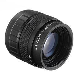 Fotga 50mm F1.4 CCTV Lens for C Mount Camera + Lens Mount Ad