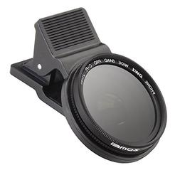 Zomei 37mm Professional Cell Phone Camera CPL Lens Filter wi