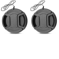 WH1916 2 Pack 37mm Center Pinch Lens Cap for Olympus E-M10