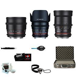ROKINON CINE DS Portrait Bundle Lens Kit - 35mm + 50mm + 85m