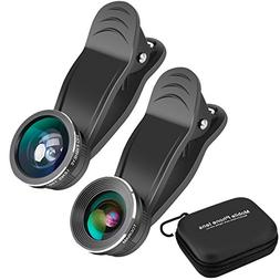 Todram Clip-on 3 in 1 Fisheye Camera Lens, 0.45X Wide Angle