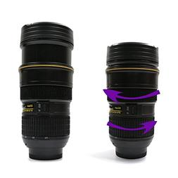 Sornean Coffee/Tea Mug,Camera Lens Travel Thermos,Stainless
