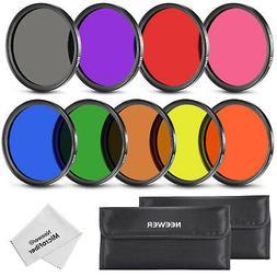 Neewer 52MM Complete Full Color Lens Filter Set  for Camera