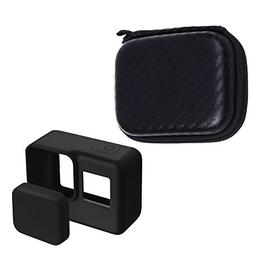 COSMOS Black Color Silicone Protective Cover Case and Lens C