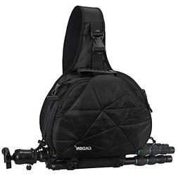 CADeN Large Camera Sling Bag Backpack with Rain Cover Waterp