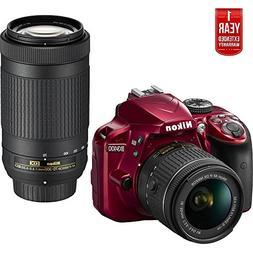 Nikon D3400 24.2MP DSLR Camera w/ AF-P 18-55 VR & 70-300mm D