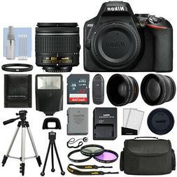 Nikon D3500 Digital SLR Camera Black + 3 Lens: 18-55mm VR Le