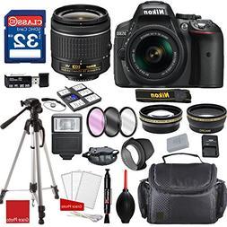 Nikon D5300 DX-format Digital SLR w/AF-P DX NIKKOR 18-55mm f