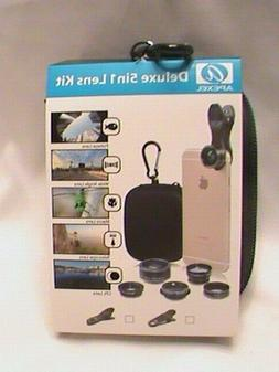 APEXEL : Deluxe 5 in 1 Camera Lens Kit for Cell Phone