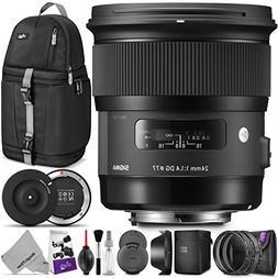 Sigma 24mm F1.4 Art DG HSM Lens for Nikon DSLR Cameras w/Sig