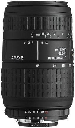 Sigma 70-300mm F4-5.6 DL Macro Super Lens for Nikon-AF Camer