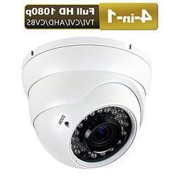 1080P Dome Security Camera HD 4-In-1 CCTV Camera 2.8mm-12mm