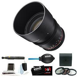 Rokinon DS 85mm T1.5 Cine Lens for Sony E-Mount + Accessory