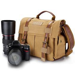 ESDDI Camera Bag, Vintage DSLR Messenger Camera Bag with Rem