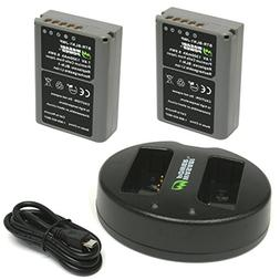 Wasabi Power Battery  and Dual USB Charger for Olympus BLN-1
