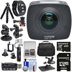 Vivitar DVR988HD 360 VR Wi-Fi Action Video Camera Camcorder