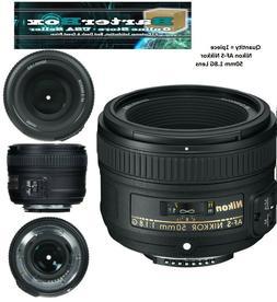 Spring Deal 50mm 1.8 Nikon Nikkor 50 mm F/1.8G Fx G Swm Af-s