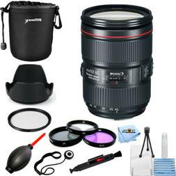 Canon EF 24-105mm f/4L IS II USM Lens #1380C002 PRO BUNDLE W