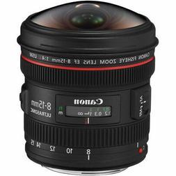 Canon EF 8-15mm f/4L Fisheye USM Ultra-Wide Zoom Lens for Ca