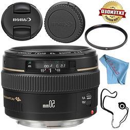 Canon EF 50mm f/1.4 USM Lens 2515A003 + 58mm UV Filter + Fib