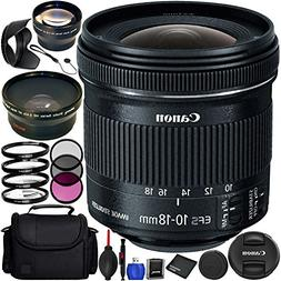 Canon EF-S 10-18mm f/4.5-5.6 IS STM Lens Bundle with Manufac