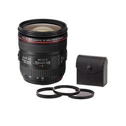 Canon EF-24-70mm f/4 IS USM Zoom Lens. USA. Value Kit with A