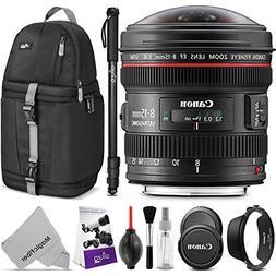 Canon EF 8-15mm f/4L Fisheye USM Ultra-Wide Zoom Lens w/Adva