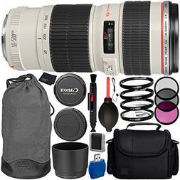 Canon EF 70-200mm f/4L USM Lens Bundle with Manufacturer Acc