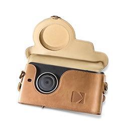 Kodak Ektra Phone Leather Camera Case - Brown/Yellow