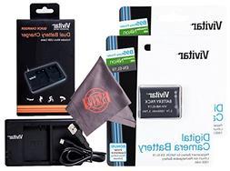 2 Pack Vivitar EN-EL19 Ultra High Capacity Rechargeable 1000