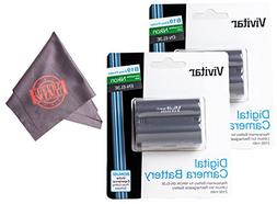 2 Pack of EN-EL3E Vivitar Ultra High Capacity Rechargeable 1