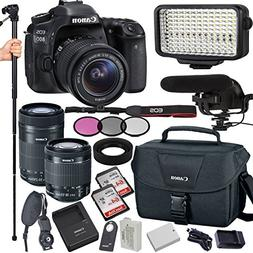 Canon EOS 80D 24.2 MP Digital SLR Camera with 18-55mm and 55