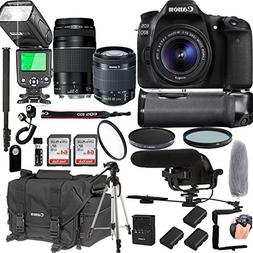 Canon EOS 80D With 18-55mm IS STM + 75-300mm III + 128GB Mem