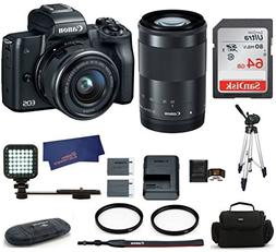 Canon EOS M50 Mirrorless Digital Camera with 15-45mm + 55-20