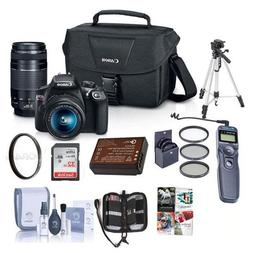 Canon EOS Rebel T6 DSLR 2 Lens Camera Kit with EF-S 18-55mm