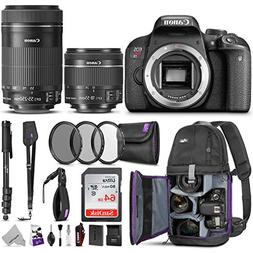 Canon EOS Rebel T7i DSLR Camera with 18-55mm is STM & 55-250