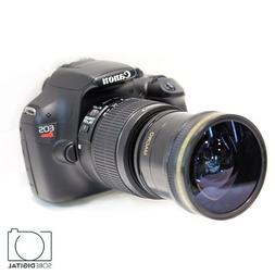 New EXTREME Fisheye Lens For Canon T3i T5i T4i EOS Rebel Cam