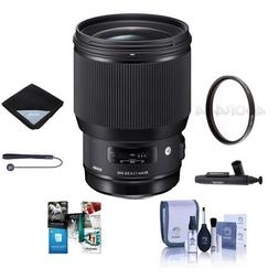 Sigma 85mm f/1.4 DG HSM Art Lens for Nikon DSLR's - Bundle w
