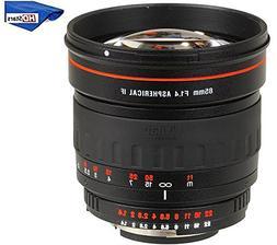 Vivitar 85mm f/1.4 AS IF Manual Focus Portrait Lens for Sony