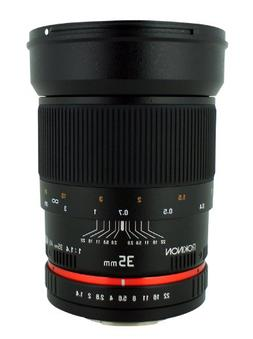 Rokinon 35mm F/1.4 AS UMC Wide Angle Lens for Nikon with Aut