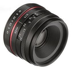 Fotga 35mm F/1.6 Manual Focus MF Prime Lens Panasonic Olympu