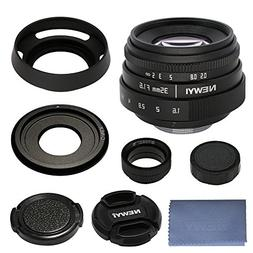 35mm F/1.6 Prime E Mount Lens Kit for Sony E-Mount APS-C Mir