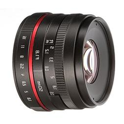 FOTGA 50mm F/1.8 Manual Focus MF Prime Lens for Sony E-mount