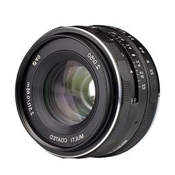 Meike 50mm f/2.0 Manual Focus Fixed Lens for Olympus M43 Dig