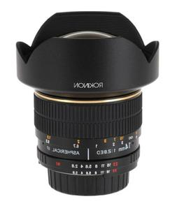 Rokinon 14mm f/2.8 IF ED MC Super Wide Angle Lens for Nikon