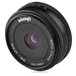 Opteka 28mm f/2.8 HD MC Manual Focus Prime Lens for Canon EF