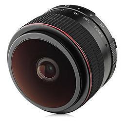 Opteka 6.5mm f/2 HD MC Manual Focus Fisheye Lens for Fuji X