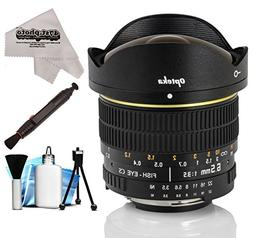 Opteka 6.5mm f/3.5 HD Aspherical Fisheye Lens with Removable